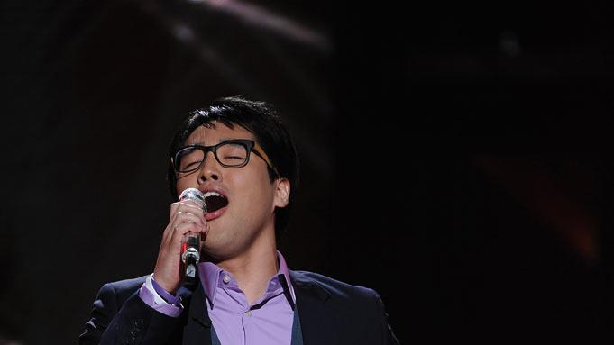"Heejun Han performs ""Angels"" by Robbie Williams on ""American Idol."""