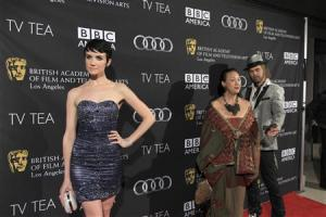 Summer, Wong and Currier arrive for the BAFTA Los Angeles TV Tea Party for nominees of the Primetime Emmy Awards in Los Angeles