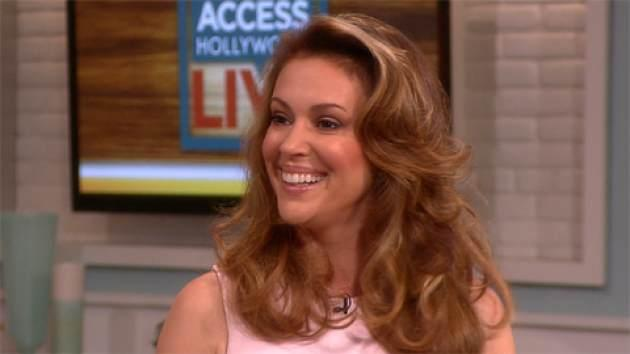 Alyssa Milano stops by Access Hollywood Live on September 10, 2013 -- Access Hollywood