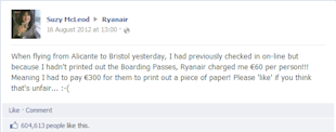 Using Social Media Monitoring for Crisis Management image ryanair likes