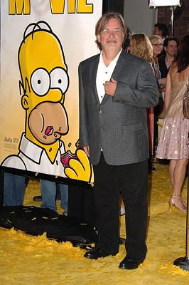 Matt Groening at the Los Angeles premiere of 20th Century Fox's The Simpsons Movie