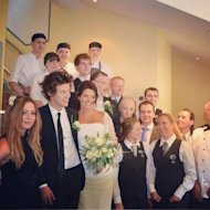 Harry Styles' mom's wedding was a true family affair.