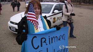 Ukranian-Americans rally White House for support