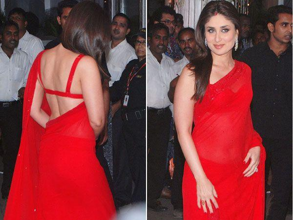 Images via : iDiva.comKareena Kapoor looks ravishing in this scarlet sari. We love her strappy blouse that shows off her flawless back. Bebo is really bringing sexy back. ;)Related Articles - Celeb Tr