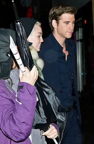 Liam Hemsworth Keeps Miley Cyrus Warm On Set of 'Paranoia'