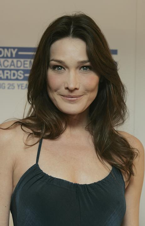 Carla Bruni nel 2007, ai Sony Radio Awards