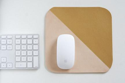 Gold-dipped Leather Mousepad