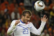 Dutch midfielder Rafael van der Vaart, seen here in 2008, has poured cold water on reports German league side Schalke 04 want to sign him by insisting he is happy to stay with Premier League team Tottenham Hotspur
