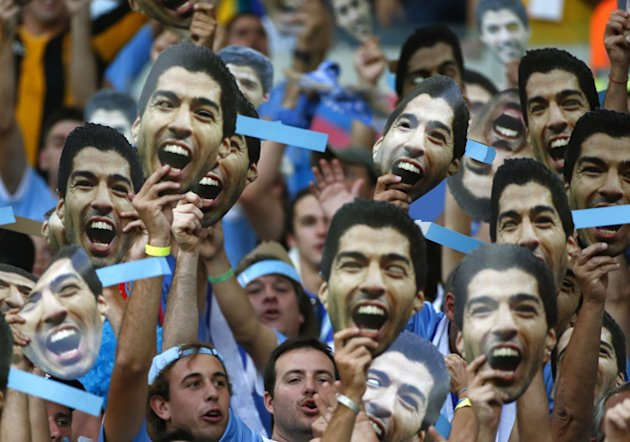 Biting a fellow human? All part of the fun for Uruguay fans channelling Suarez