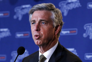 Dave Dombrowski helped lead the Tigers to a pair of AL pennants and four straight postseason appearances. (AP)
