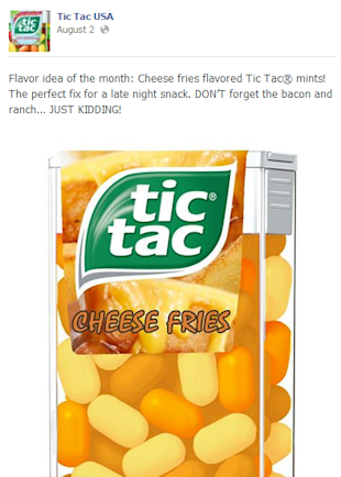 3 Takeaways from Tic Tac's Flavorful Facebook Content image tic tac 3