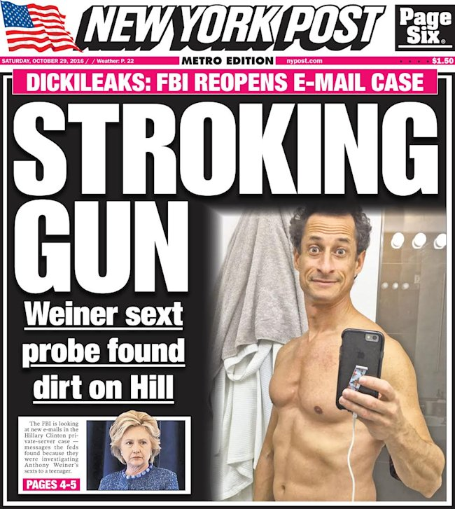 The top 10 New York Post covers featuring Anthony Weiner ...