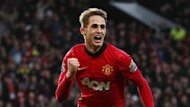 Manchester United's Adnan Januzaj celebrates after scoring a goal against West Ham during their English Premier League match (Reuters)