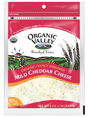 Organic Valley Mild Shredded Cheddar Cheese