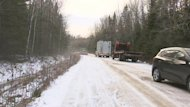 The four friends from New Brunswick were driving on an icy stretch of road before the crash.
