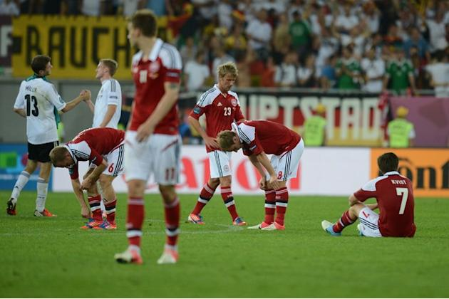Danish Players AFP/Getty Images