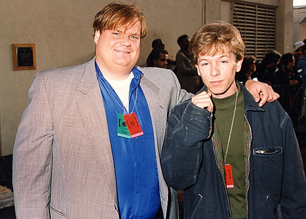 Chris Farley Funeral Photos Chris farley and david spade