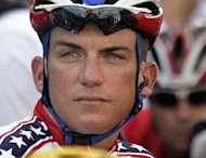 US cyclist Tyler Hamilton before the start of the men's road race at the Athens Olympic Games on August 14, 2004. Hamilton's book detailing doping in the US Postal team of Lance Armstrong will be published in France on March 21, 2013