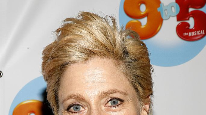 "Edie Falco attends the opening night of ""9 To 5: The Musical"" on Broadway at the Marriott Marquis Theatre on April 30, 2009"