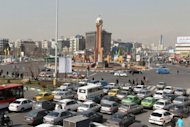 A general view of Sadeqyeh Square in Tehran. The US has accused the Bank of Kunlun and the Elaf Islamic Bank in Iraq of arranging transactions worth millions of dollars with Iranian banks already under sanctions because of alleged links to Tehran's weapons program
