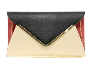 New Look parker envelope clutch