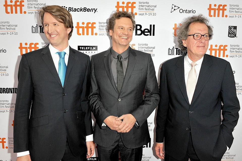 2010 Toronto Film Festival Tom Hooper Colin Firth Geoffrey Rush