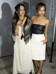 Lisa Bonet, left and her daughter Zoe Kravitz attend CHANEL's The Little Black Jacket Exhibition on Wednesday, June 6, 2012, in New York. (Photo by Charles Sykes/Invision/AP