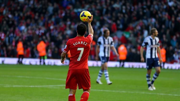 Check out Luis Suarez's brilliant hat-trick against West Brom today