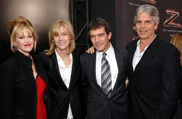 Melanie Griffith , Laurie MacDonald , Antonio Banderas and Walter F. Parkes at the LA premiere of Columbia Pictures' The Legend of Zorro