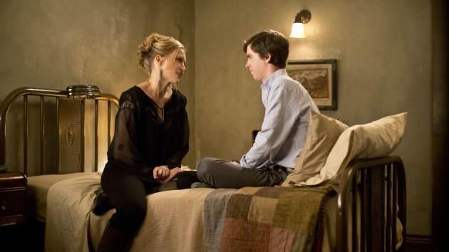 Vera Farmiga and Freddie Hightower in 'Bates Motel' -- A&E