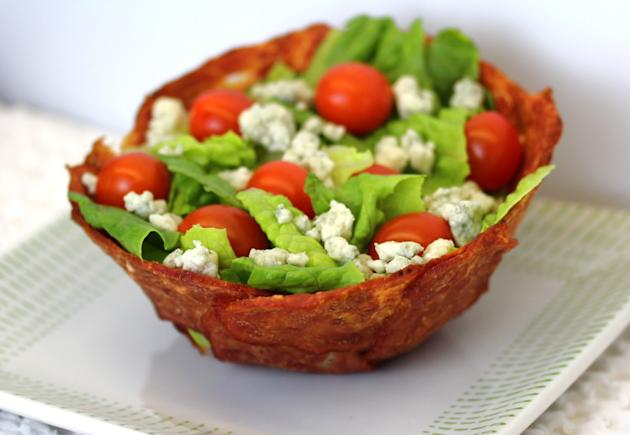 Bacon Cup Salad With Less Guilt