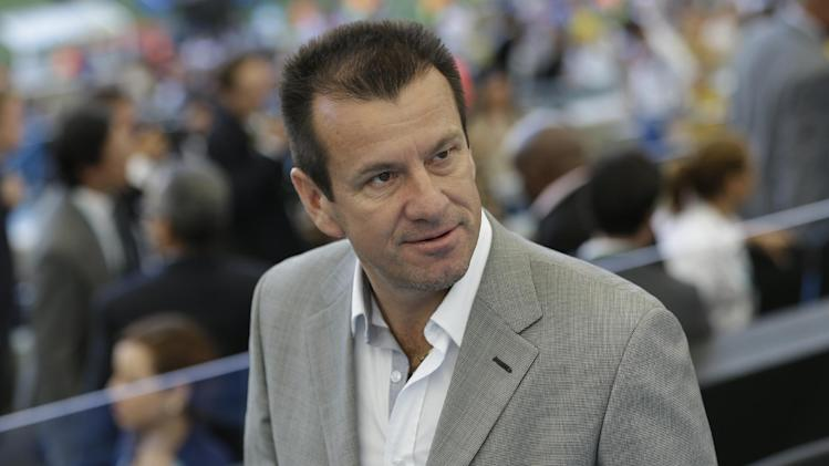 Former Brazil head coach Dunga arrives to attend the World Cup final soccer match between Germany and Argentina at the Maracana Stadium in Rio de Janeiro, Brazil, Sunday, July 13, 2014. (AP Photo/Hassan Ammar)