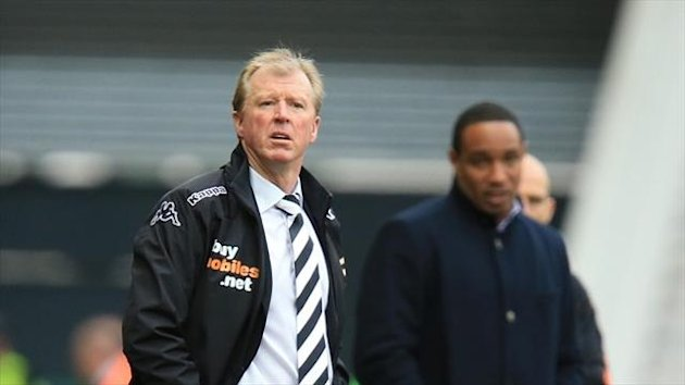 Derby's manager Steve McClaren is remaining grounded