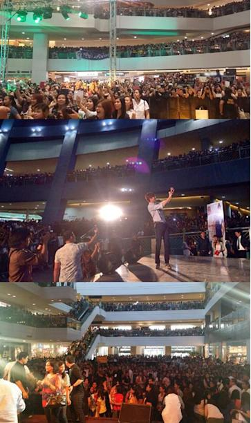 Lee Min Ho finishes promotions in Philippines with a blast