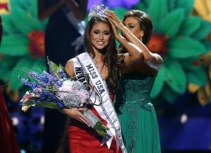 Miss Nevada USA Nia Sanchez is crowned Miss USA during…