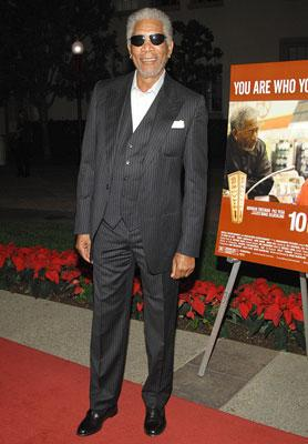Morgan Freeman at the Los Angeles premiere of THINKFilm's 10 Items or Less