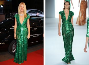Gwyneth Paltrow green Elie Saab dress Bambi Awards