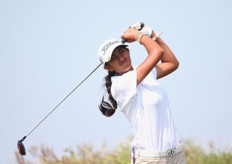 Aditi Ashok made history in India on Sunday. (Getty Images)