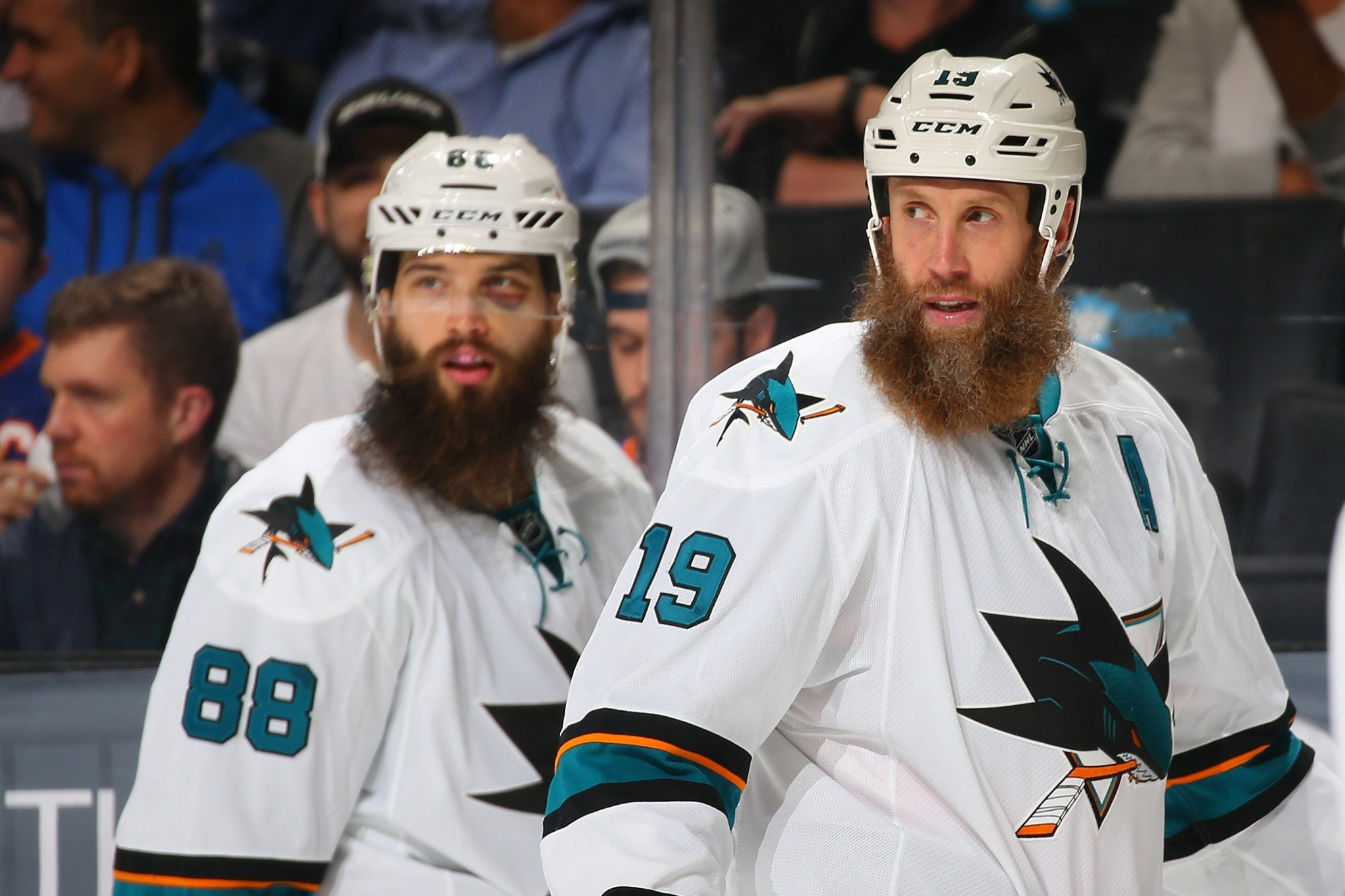 San Jose Sharks stars Joe Thornton and Brent Burns