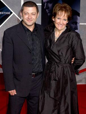Andy Serkis and wife Lorraine at the Hollywood premiere of Touchstone Pictures' The Prestige