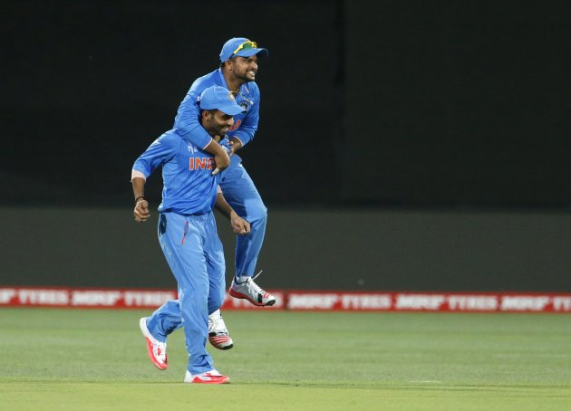 The most exuberant Indian on the field.