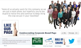 6 Reasons Why Your Company's Facebook Page is Unattractive image stock photo