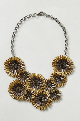Gilded Daisies Necklace, $198