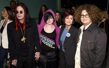 Premiere: Ozzy Osbourne, Kelly Osbourne, Sharon Osbourne and Jack Osbourne at the LA premiere of Paramount's The School of Rock - 9/24/2003