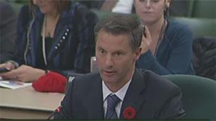 Nigel Wright appears before the House of Commons ethics committee on Tuesday.