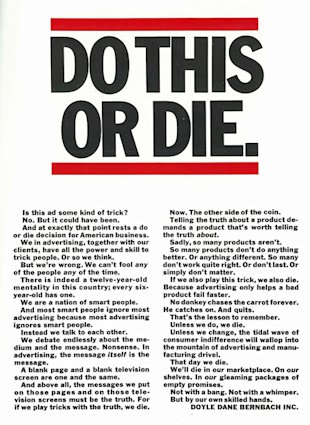 "Copywriting Tips from the VW ""Think Small"" Ad Man image Do This or Die"