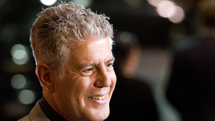 "Anthony Bourdain attends ""On The Chopping Block: A Roast of Anthony Bourdain"" on Thursday, Oct. 11, 2012 in New York. (Photo by Charles Sykes/Invision/AP Images)"