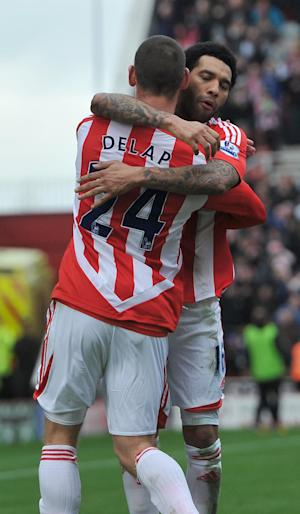 Rory Delap (left)