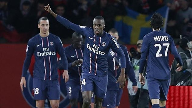 Paris Saint-Germain's Blaise Matuidi after scoring against at the Parc des Princes (AFP)