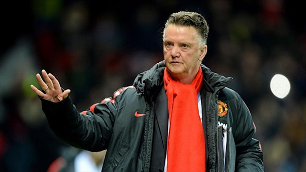 Louis Van Gaal watched his team beat Cambridge 3-0 at Old Trafford on Tuesday night